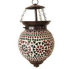 Lampe Hängeleuchte Leuchte Mosaik Dekoleuchte Grün Orange 14 cm Ø Nr. 5