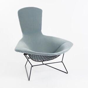 Vintage Knoll Harry Bertoia Wire Bird Lounge Chair w/ Brand New Velvet Cushion