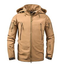 53111c8468068 Mens Military Softshell Jacket Outdoor Camping Waterproof Coat Hoody  Tactical