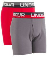 Under Armour Boys Charged Cotton Stretch Boxerjock 2-Pack Youth X-Large Ether Blue