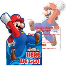 6 X Super Mario Bros. Wii Fiesta Invitación Tarjetas con Sobres @ mrsmario'