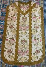 Antique French Church Vestment Chasuble Priest Brocades Fine Condition