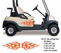 Side Flames Vinyl Set - Graphic Decals - Golf Cart, Car, Go Kart, Buggy, Trailer