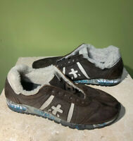 Men's Sneakers PREMIATA Lucy brown Leather Shearling size 42 EU   9 US