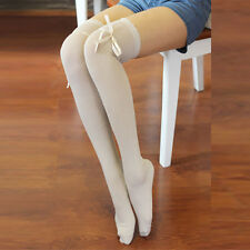 Mujeres nuevas sobre rodilla muslo alto media larga de punto botas calcetines