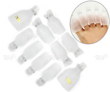 10Pcs Toe Nail Art Soak Off Cap Uv Gel Polish Remover Wrap Toe Tool Reusable