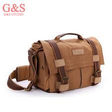 Waterproof Cavans Shoulder Bag DSLR Camera bag (L) for Canon 5DII 500D Nikon D90