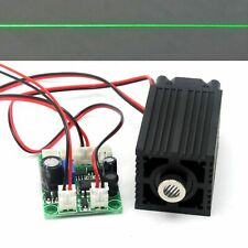 100mw 532nm Green Laser Diode Module Focusable Line Positioning 12V Driver TTL