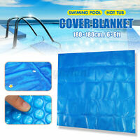 6ft Square Swimming Pool Hot Tub Cover 400 Micron Outdoor Heater Bubble  z