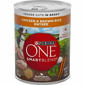 Purina ONE Natural High Protein Gravy Wet Dog Food SmartBlend Tender Cuts Chi...