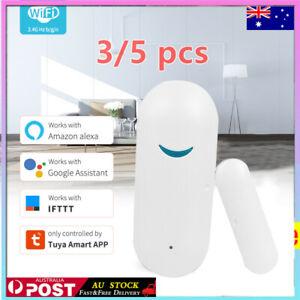 3/5pcs Tuya Smart  home WiFi wireless Door window alarm sensor