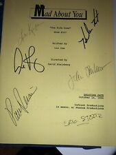 MAD ABOUT YOU TV CAST - SCRIPT SIGNED WITH CO-SIGNERS And SIGNED CAST PHOTO