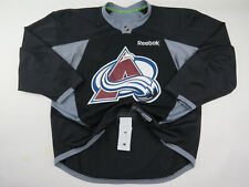 Practice Worn Reebok Colorado Avalanche NHL Pro Stock Hockey Jersey 58 Black #28