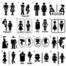 WC / Toilet Wall and Door Decal Sticker - Colourful Vinyl Decoration Sign Art