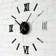 DIY Wall Clock Watch 3D Acrylic Art Stickers Decals Modern Home Office Decor