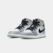 Nike Air Jordan 1 Mid Light Smoke Grey Boys (PS) 11 C 2020 New In Box 640734 092