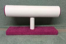 Único nivel bangle/bracelet Stand ivory/pink