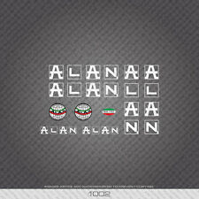 01002 Alan Bicycle Stickers - Decals - Transfers - White