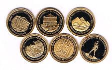 ISLAS SALOMON.6 monedas de 5 DÓLARES ORO 2011.585 ‰ ø 11 mm 0,50 grs BUEN ESTADO