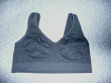 Sports Bra Textured Fabric~1X~Gray,90%Nylon/10%Spandex,NWOT