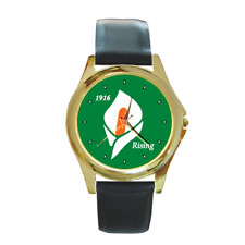 EASTER LILY 1916 IRISH REPUBLICAN RISING ROUND WRISTWATCH **GREAT GIFT IDEA**