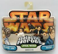 Star Wars Galactic Heroes Princess Leia in White Gown & Han Solo Hasbro