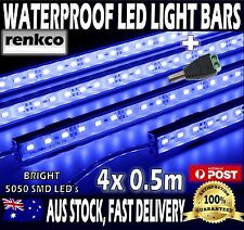 4X12V Waterproof BLUE 5630 Led Strip Lights Bars For Car Camping Boat Caravan