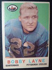 1959 Topps #40 BOBBY LANE STEELERS EX+ Football Card HOF TEXAS DETROIT LIONS !!!