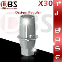 30X Dental Implant Ti-Base For Osstem / Hiossen For Regular Platform With Hex