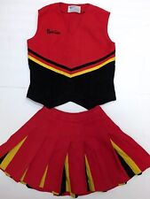 VIntage Cheer Uniform Red Yellow Black Denise Real Cheerleader Costume S Small