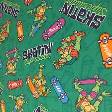 Skating Superdudes Ninja Turtles 100% cotton fabric by the yard