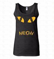 Yellow Cat Eyes WOMEN TANK TOP T-shirt Meow Animal Lover Gift Pet Face TankTOP