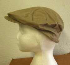 YOUNG-AN vtg beige cabbie hat Newsboy tan cap Gatsby small 1980s urban funky