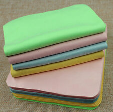 Large Big Microfiber Cloth Lenses Glasses Cleaner Suede Eyeglass Cleaning Cloths