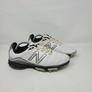 New Balance 3001 Tour Waterproof Spiked Golf Shoe Mens Size 10.5 2E NBG3001WK