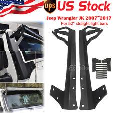 "Fit Jeep Wrangler JK 2007-2017 Steel 52"" Straight LED Light Bar Mounting Bracket"