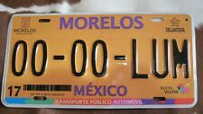 Morelos Mexico Beautiful Taxi sample license plate.