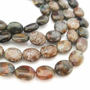 Natural Golden Green Turquoise Beads, 10X8mm Smooth Oval Shape (sold per strand)
