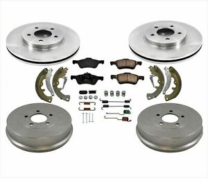 Fits For 2011-2012 Ford Escape Front Disc Brake Rotors Rear Drums Shoes 7Pc