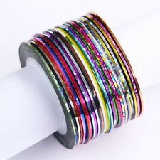 30 Rolls 1mm Nail Art Striping Tape Line adhesive Sticker Decals Decoration Tool