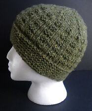 Hand Knitted, hand made men's beanie/ hat; warm for winter