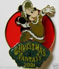 Disney TDL Christmas Fantasy Minnie Mouse Stainglass Japan Pin **