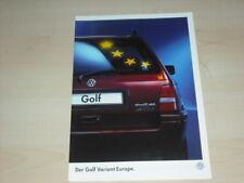 34205) VW Golf Variant Europe Prospekt 1996