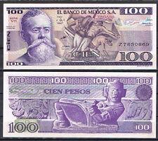 MEXICO 100 PESOS AÑO 1982  Pick 74   SC  UNC