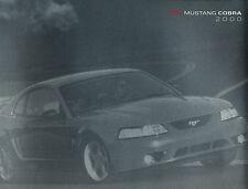 2000 Ford SVT Mustang Cobra Deluxe Sales Brochure