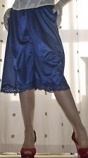 Blue silky nylon pantie slip~pettipants~culottes~bloomers size 20~22 BNIP no vpl