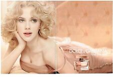 PUBLICITE ADVERTISING   2009   DOLCE & GABBANA  parfum ROSE THE ONE (2 pages)