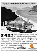 MG MIDGET 1960 RETRO POSTER A3 PRINT FROM CLASSIC 60'S ADVERT
