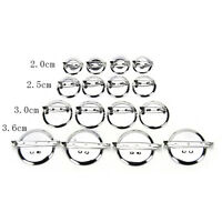 10pcs Silver Plated Back Brooch Pin Findings DIY Supply Safety Base CameosAUE