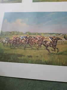 The Derby 1968 Horse Racing Print